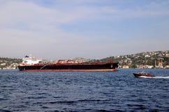 Oil Tanker in the Bosphorus Royalty Free Stock Photo