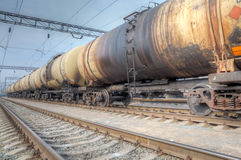 Oil tanker cars Stock Photography