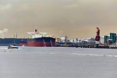 Oil Tanker in Dock Royalty Free Stock Images