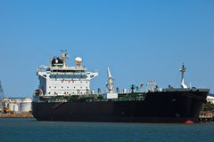 Oil tanker docked in Brisbane Harbor Australia Royalty Free Stock Photo