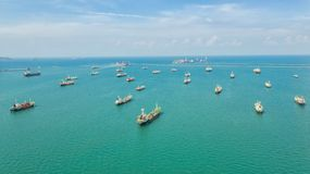 Free Oil Tanker, Gas Tanker In The High Sea.Refinery Industry Cargo Ship,aerial View,Thailand, In Import Export, LPG,oil Refinery, Royalty Free Stock Photos - 134768108