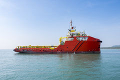 Oil tanker in the gulf of Thailand.  Royalty Free Stock Image