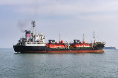 Oil tanker in the gulf of Thailand.  Royalty Free Stock Images