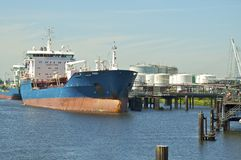 Oil Tanker in the harbor Royalty Free Stock Image