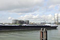Oil tanker in the harbor Royalty Free Stock Image