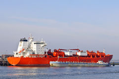 Oil tanker in the harbor Stock Photography