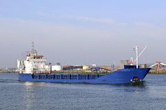 Oil tanker in the harbor Stock Photo