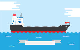 Oil Tanker, illustration Royalty Free Stock Image