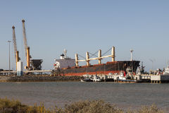 Oil tanker in industrial port Stock Photography