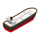 Oil tanker isometric 3d icon Stock Image