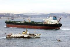 Oil Tanker, Istanbul Stock Photo