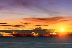 Oil Tanker loading oil Stock Photo