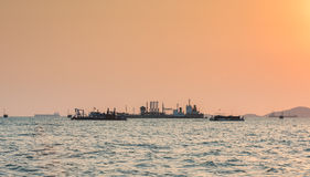 Oil Tanker loading oil Royalty Free Stock Photos