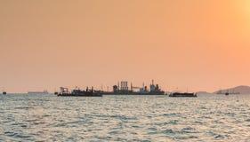 Oil Tanker loading oil Royalty Free Stock Photos