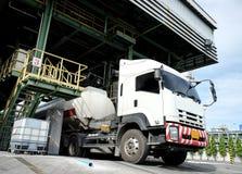 Oil tanker in loading station Stock Images
