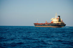 Oil Tanker on Mediterranean Royalty Free Stock Image