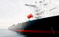 Oil-tanker moored offshore Stock Images