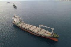 Oil tanker in the ocean Royalty Free Stock Image