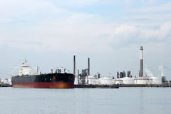 Oil tanker in port Royalty Free Stock Photo