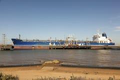 Oil tanker in port Stock Images
