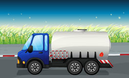 An oil tanker at the road. Illustration of an oil tanker at the road Stock Images