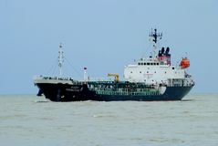 Oil Tanker sailing Stock Photography