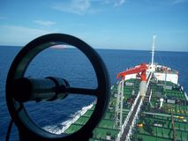 Oil Tanker sailing Royalty Free Stock Images