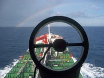 Oil Tanker sailing Royalty Free Stock Photography
