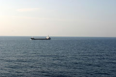 Oil tanker on sea Royalty Free Stock Photo