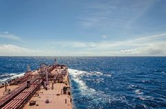 Oil tanker at sea. Big cargo vessel - an oil tanker at sea Stock Images