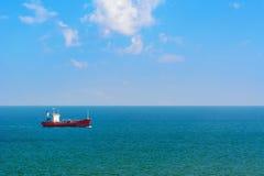Oil Tanker in the Sea Stock Photo