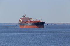Oil tanker in sea gulf Royalty Free Stock Photos