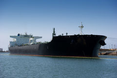 Oil tanker ship. An oil tanker ship docked in a harbor Royalty Free Stock Image