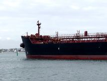 Oil Tanker ship in harbor Stock Images