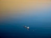 Oil tanker ship on open sea Royalty Free Stock Photo