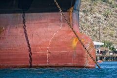Oil tanker ship prow royalty free stock photos