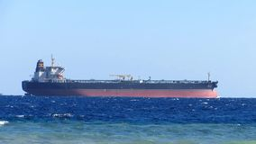 Oil Tanker ship. At sea stock video