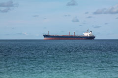 Oil Tanker Ship in the sea Stock Photos