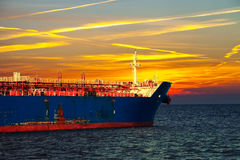 Oil tanker ship Royalty Free Stock Images