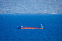Oil tanker ship on sea Stock Image