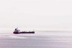 Oil tanker ship transports fossil energy overseas Royalty Free Stock Images