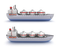 Oil tanker ship on white background Royalty Free Stock Images