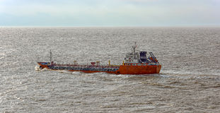 Oil tanker in stormy sea Stock Photos