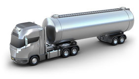 Oil Tanker truck. Isolated 3D image Royalty Free Stock Image