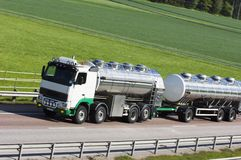 Oil-tanker-truck on the move Royalty Free Stock Images