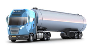 Oil Tanker truck.. MY OWN DES. Oil Tanker truck. Isolated 3D image . MY OWN DESIGN Stock Photography