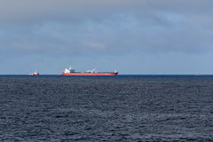 Oil tanker unloading Royalty Free Stock Photos