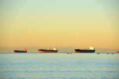 Oil Tanker at Vancouver, BC, Canada Royalty Free Stock Photo