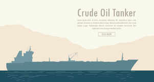 Oil tanker. Vector illustration Stock Photos