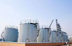 Oil Tanks Royalty Free Stock Photos